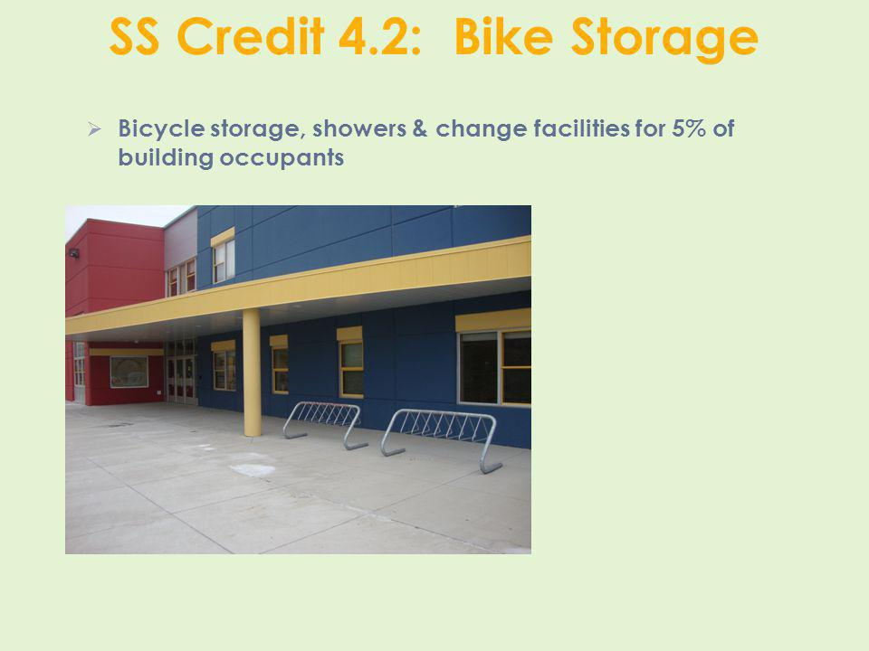 SS Credit 4.2: Bike Storage