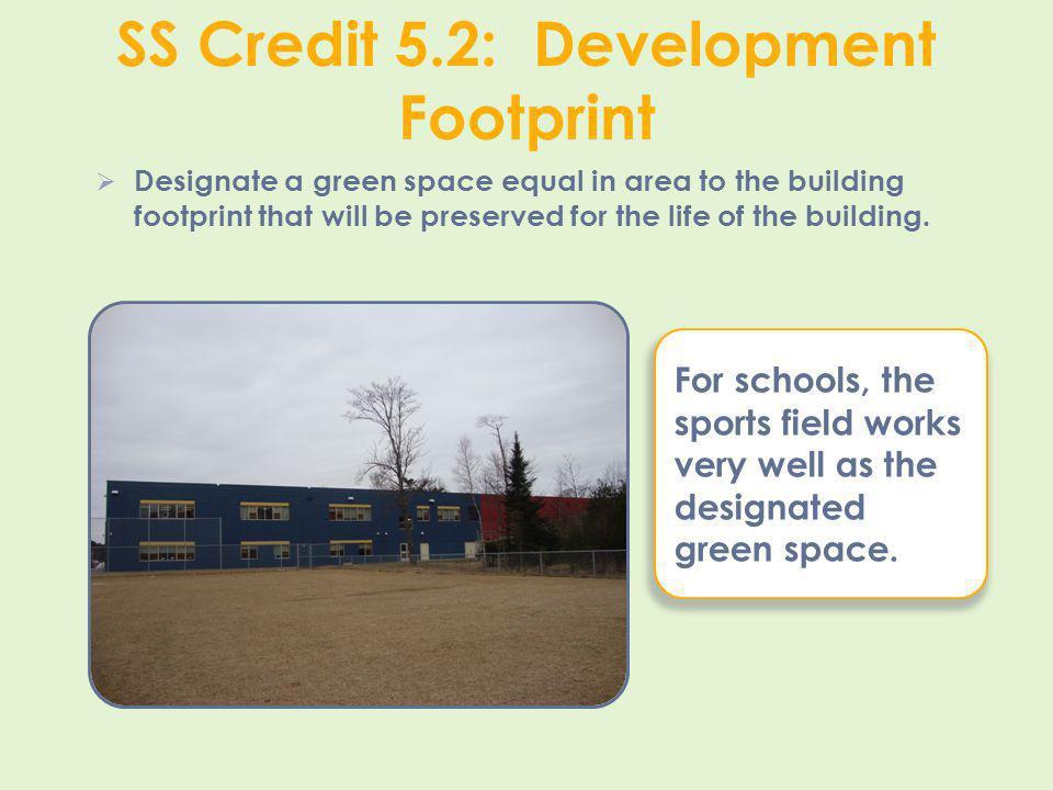 SS Credit 5.2: Development Footprint