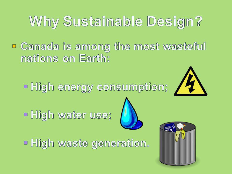 Why Sustainable Design