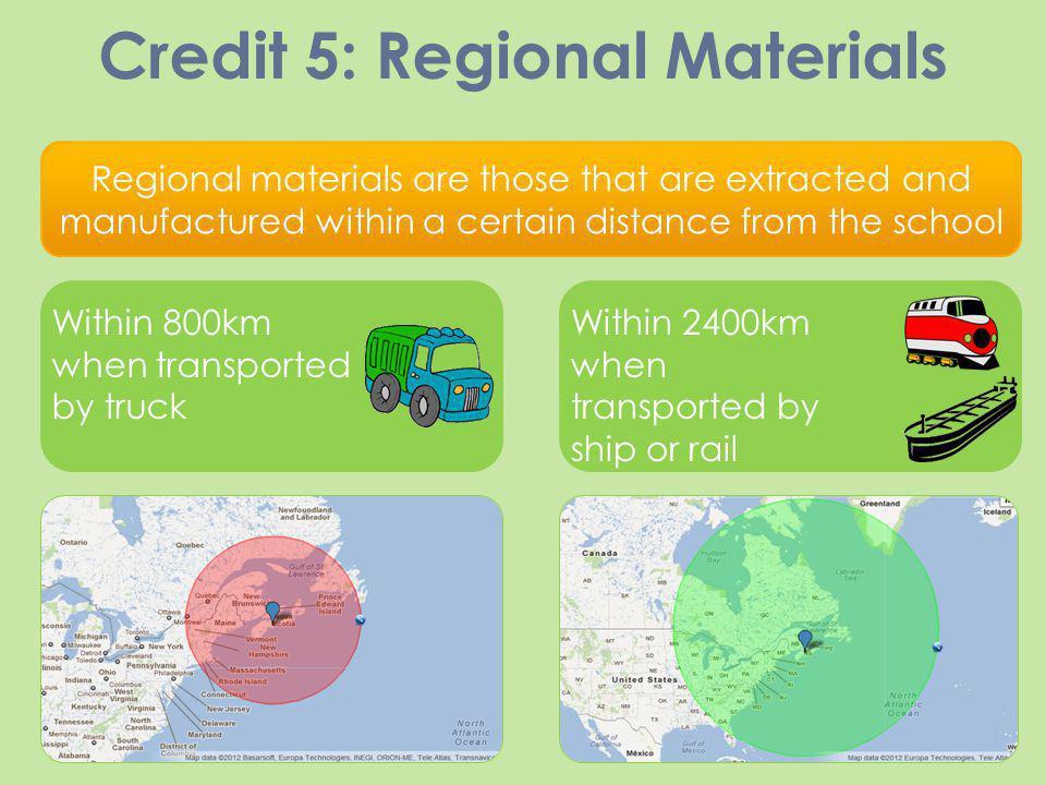 Credit 5: Regional Materials