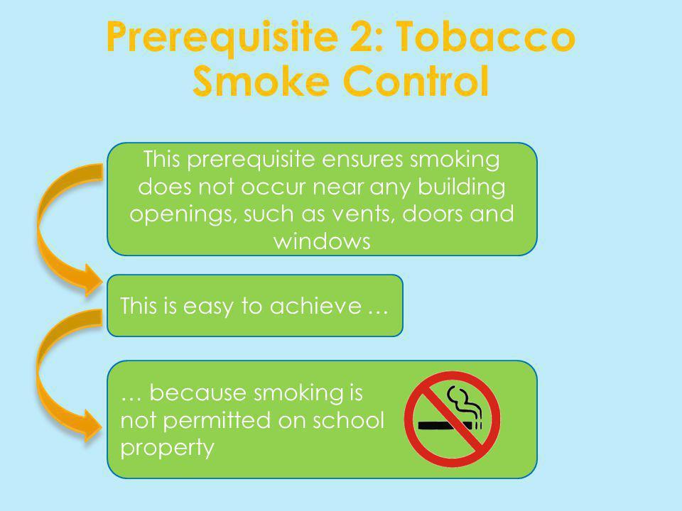 Prerequisite 2: Tobacco Smoke Control