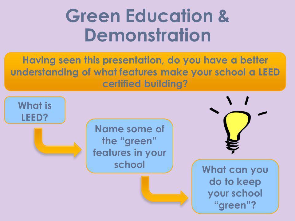 Green Education & Demonstration