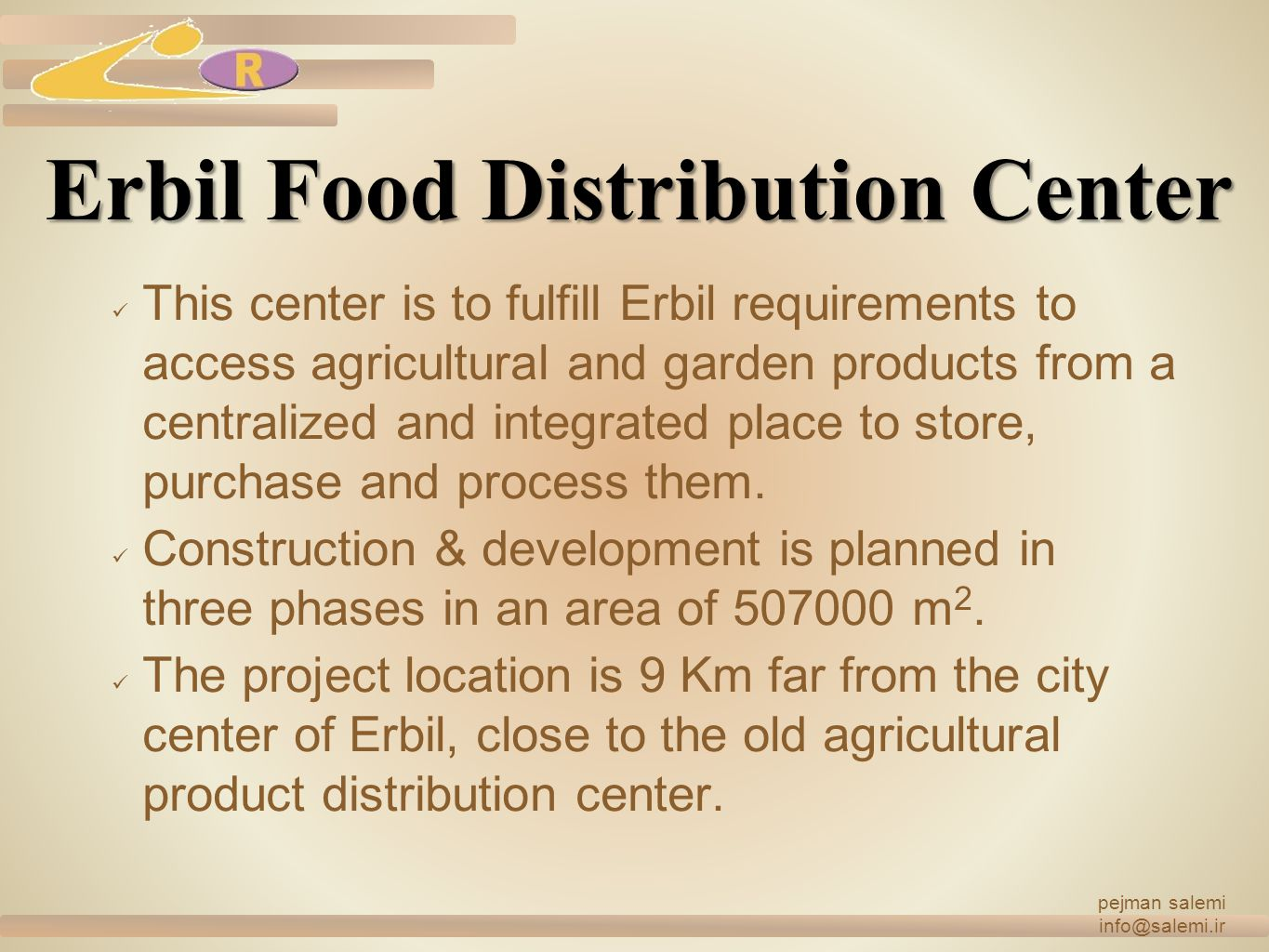 Erbil Food Distribution Center