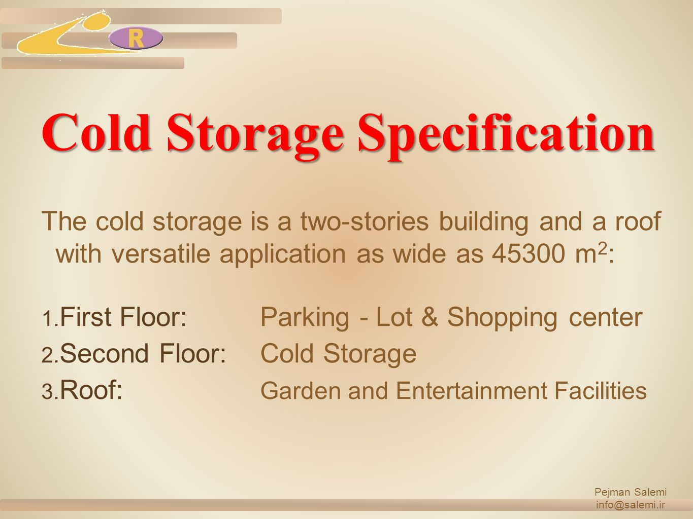 Cold Storage Specification