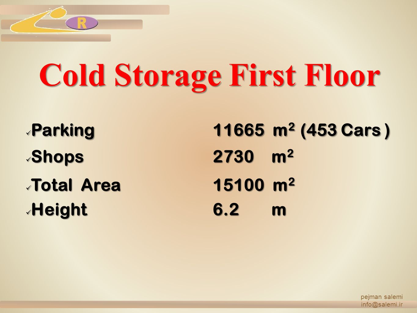 Cold Storage First Floor
