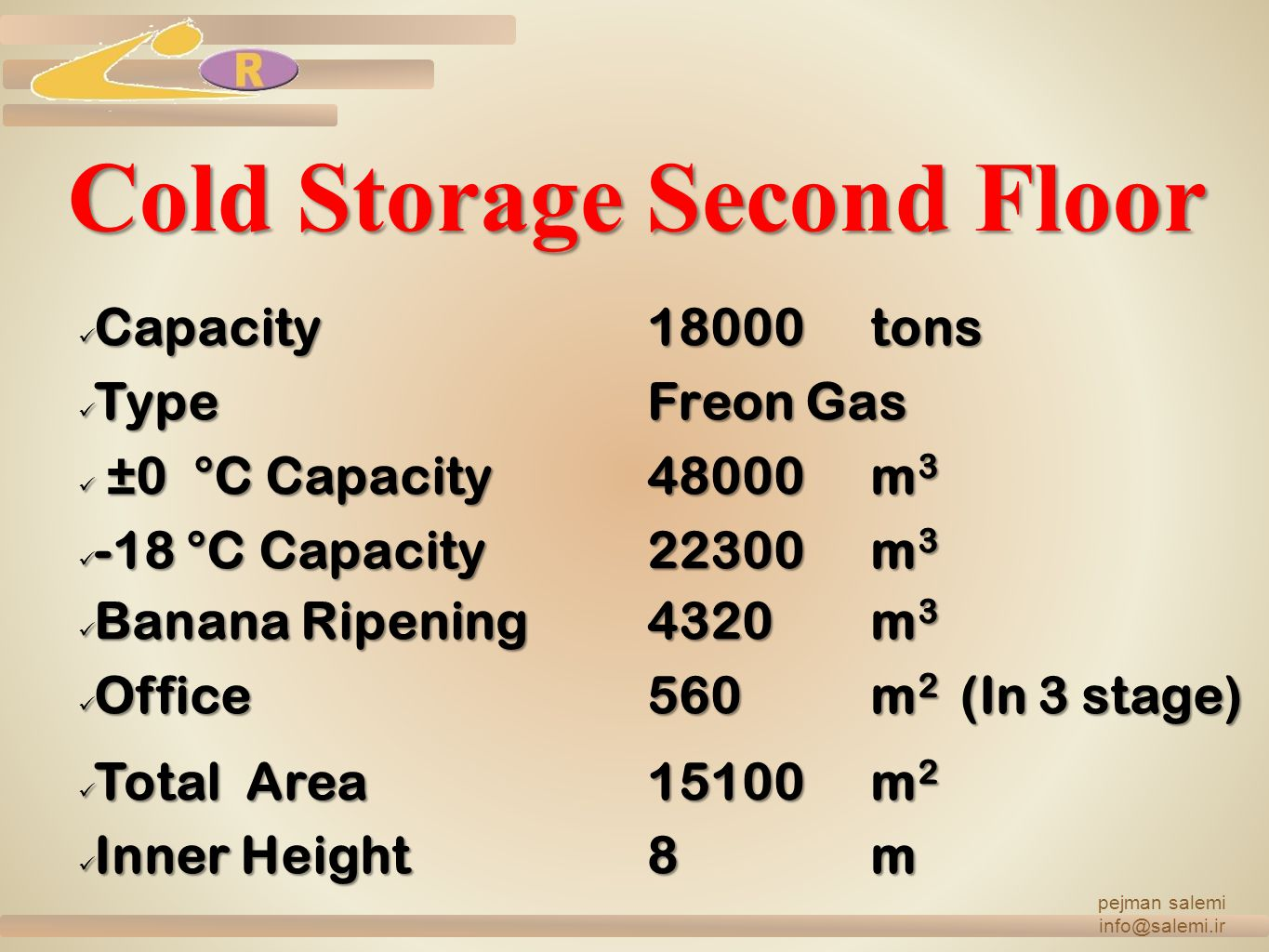 Cold Storage Second Floor