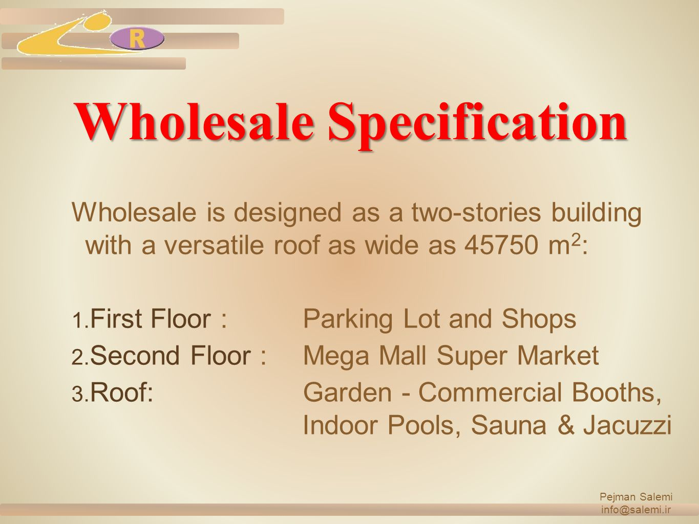 Wholesale Specification