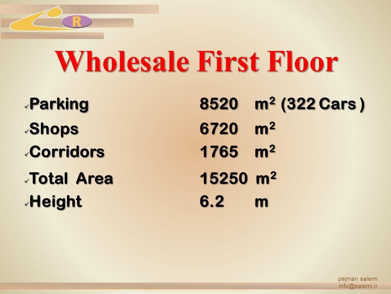 Wholesale First Floor Parking 8520 m2 (322 Cars ) Shops 6720 m2