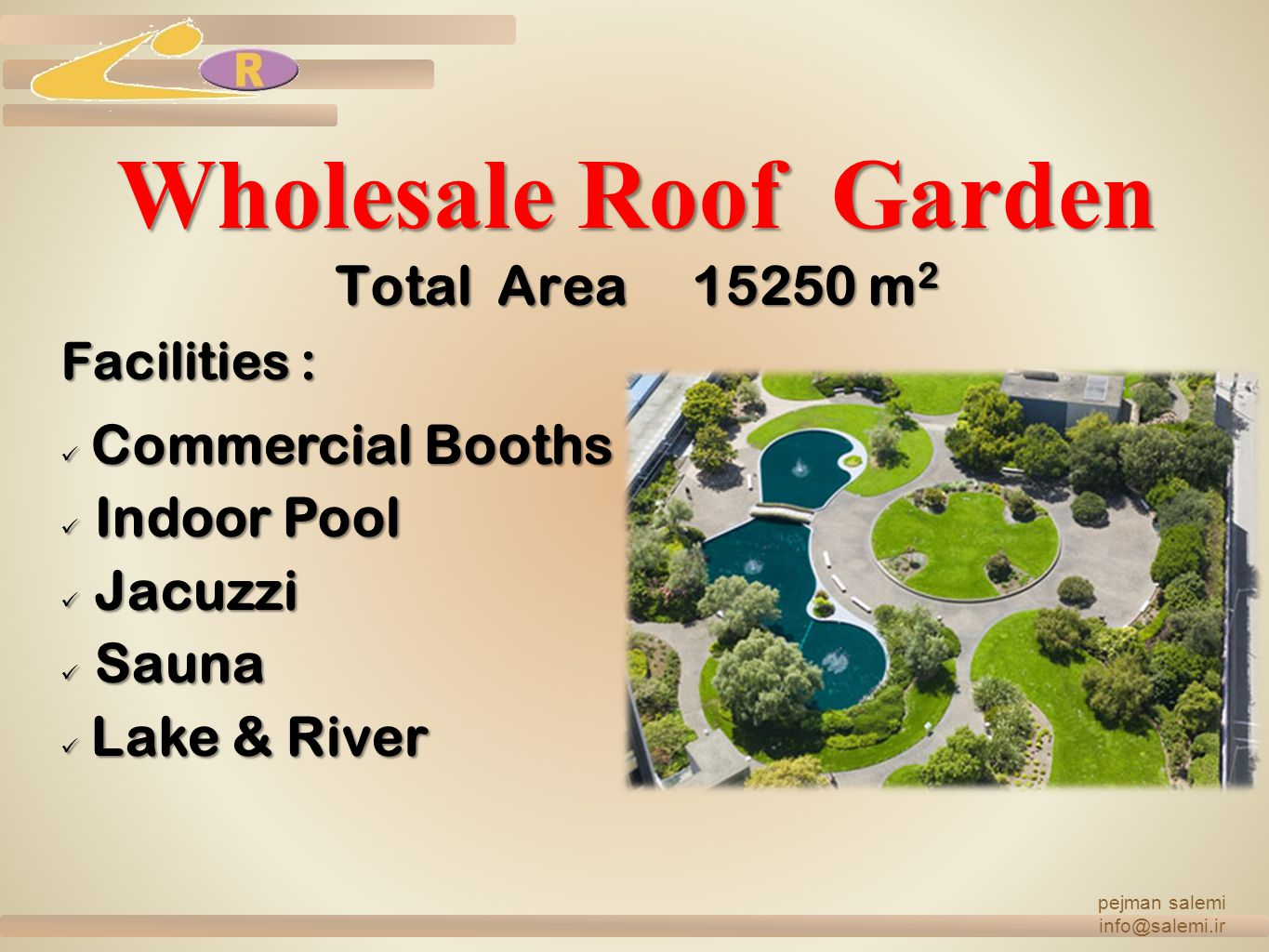Wholesale Roof Garden Total Area 15250 m2