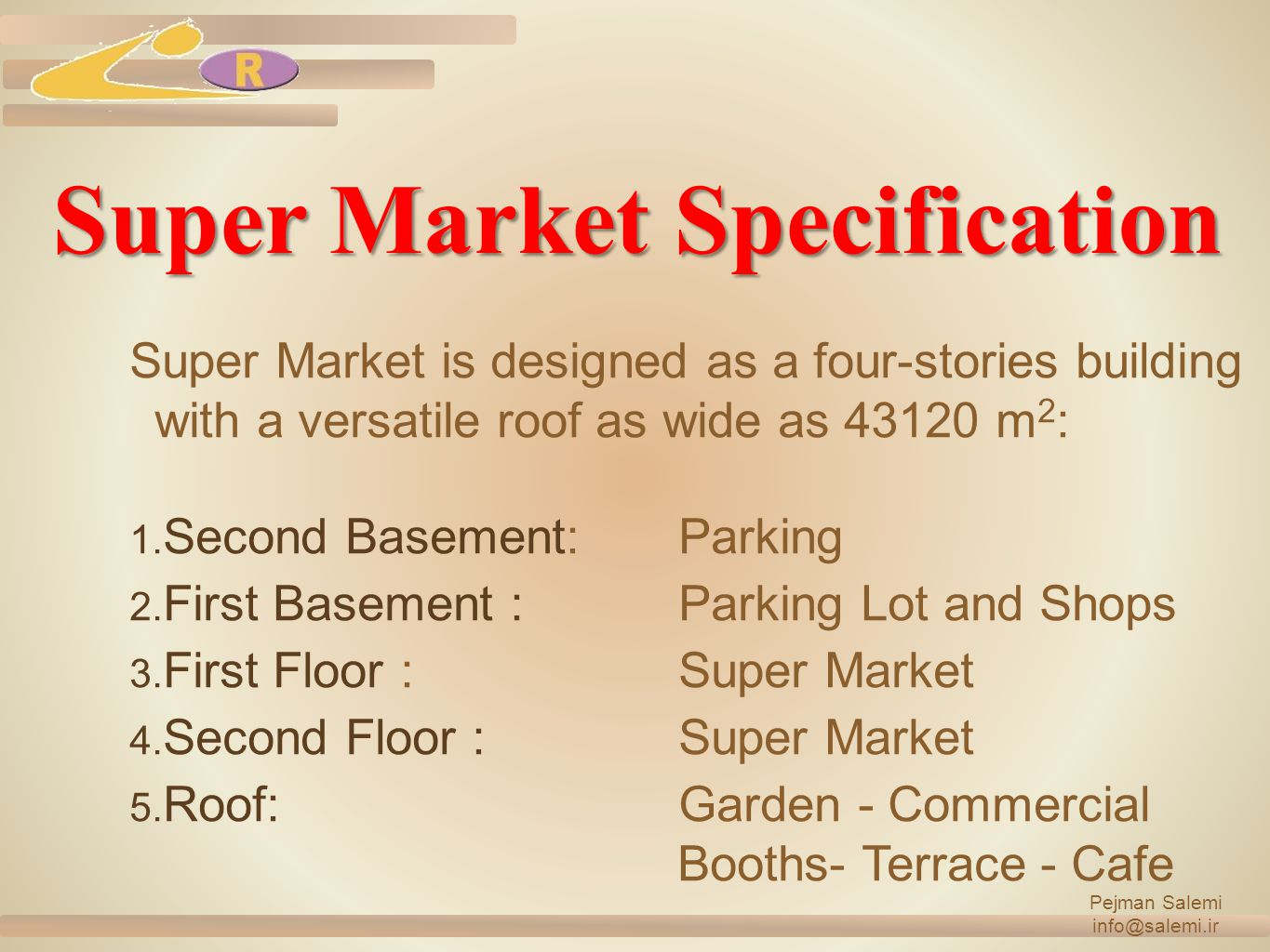 Super Market Specification
