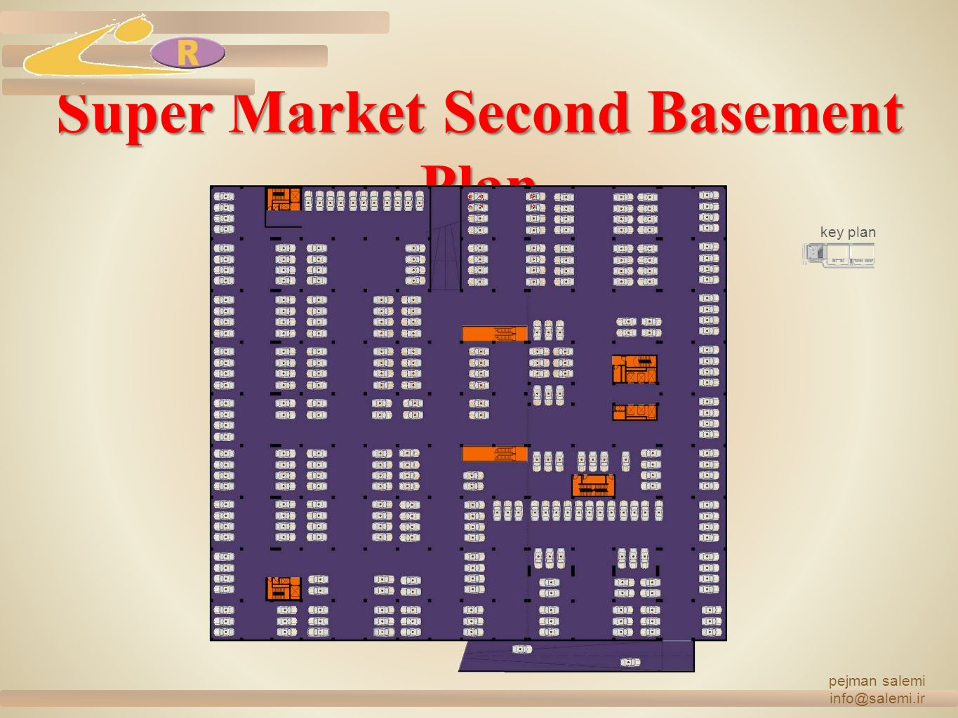 Super Market Second Basement Plan