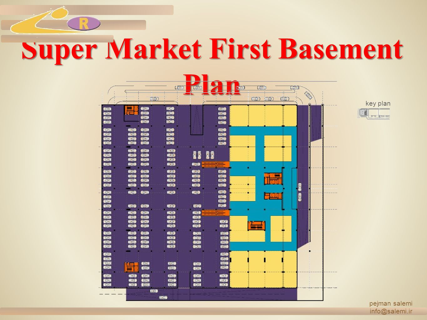 Super Market First Basement Plan