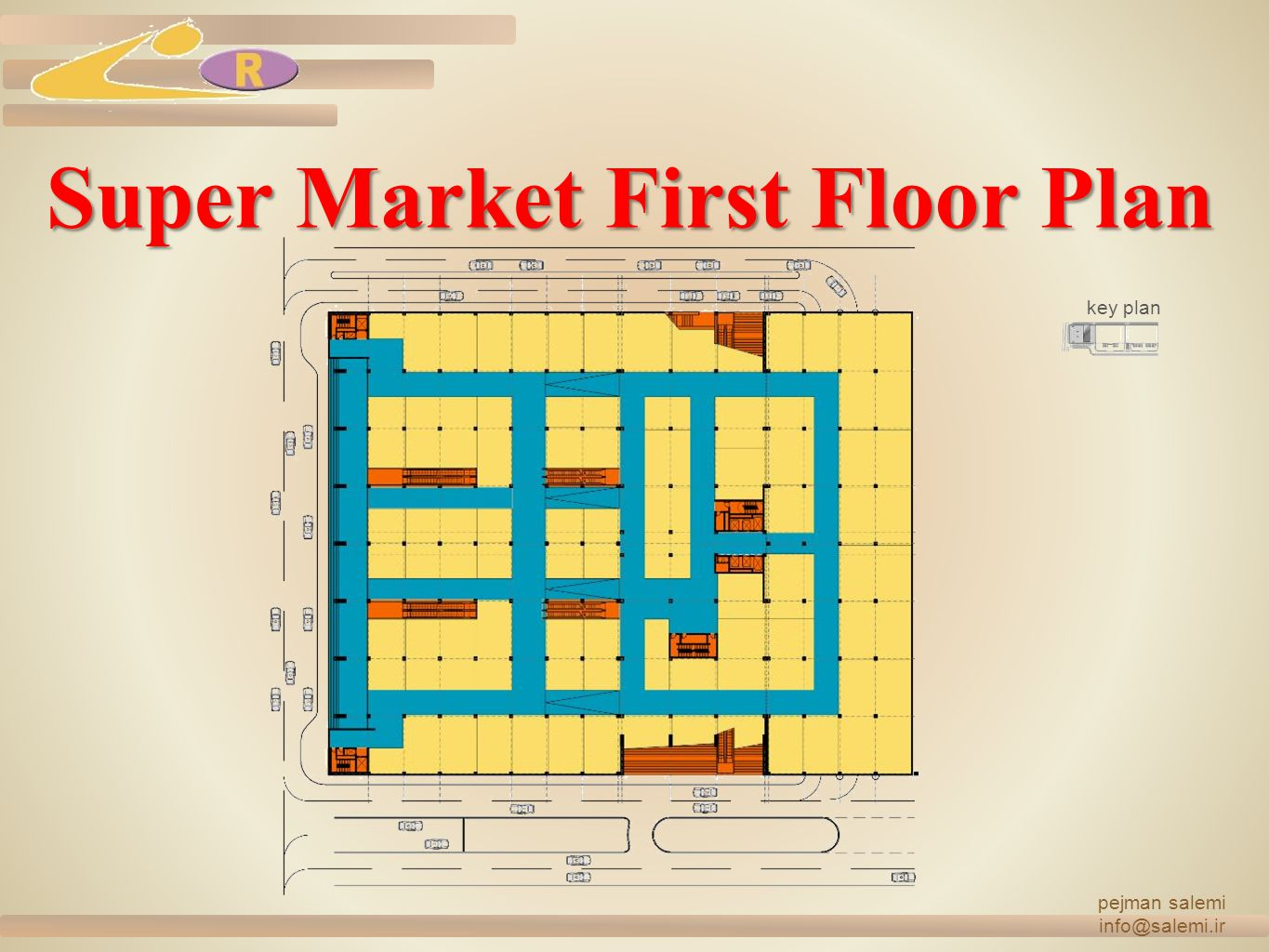 Super Market First Floor Plan