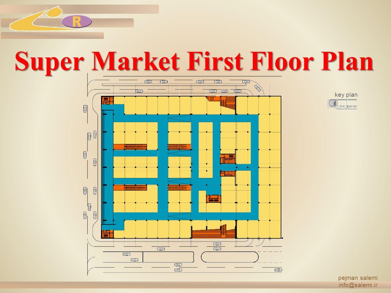 Super Market First Floor Plan