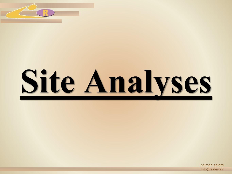 pejman salemi info@salemi.ir Site Analyses