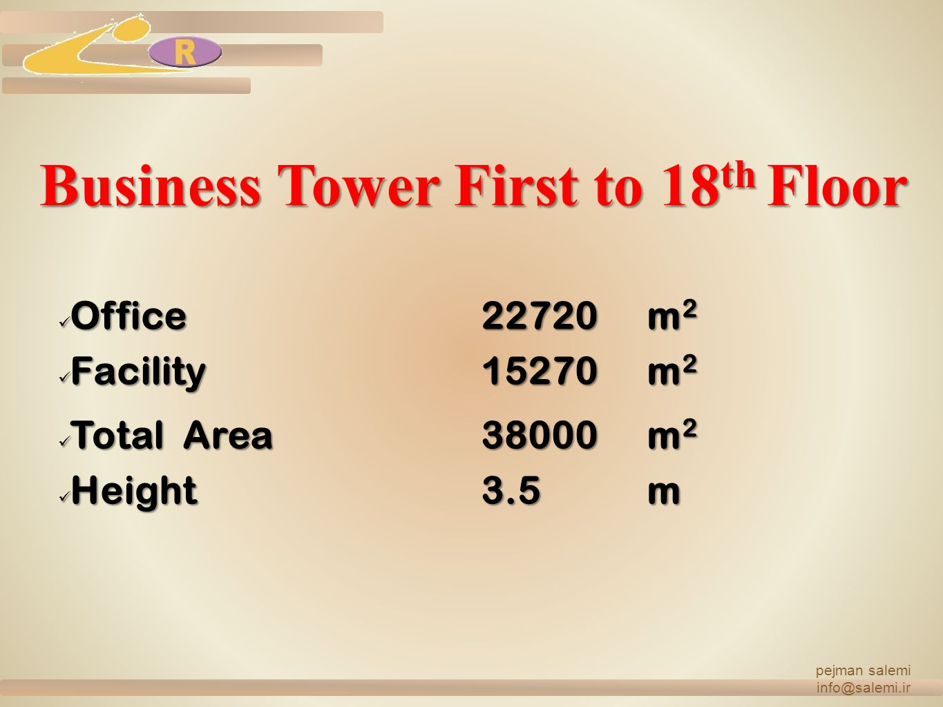 Business Tower First to 18th Floor