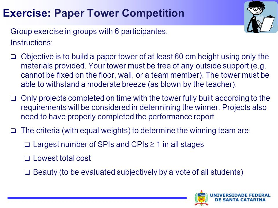 Exercise: Paper Tower Competition