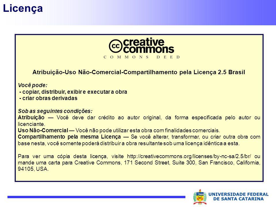 Atribuição-Uso Não-Comercial-Compartilhamento pela Licença 2.5 Brasil
