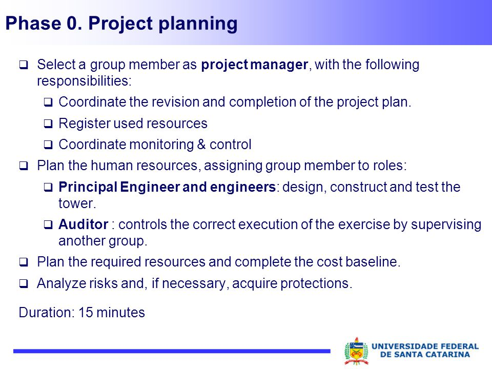 Phase 0. Project planning