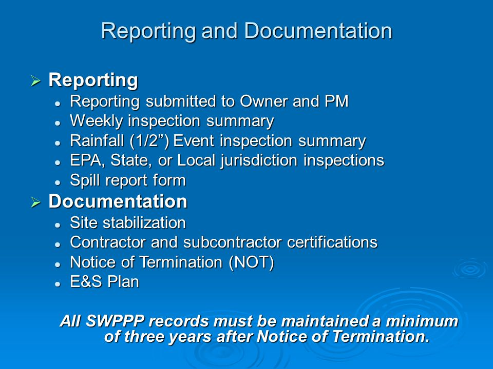 Reporting and Documentation