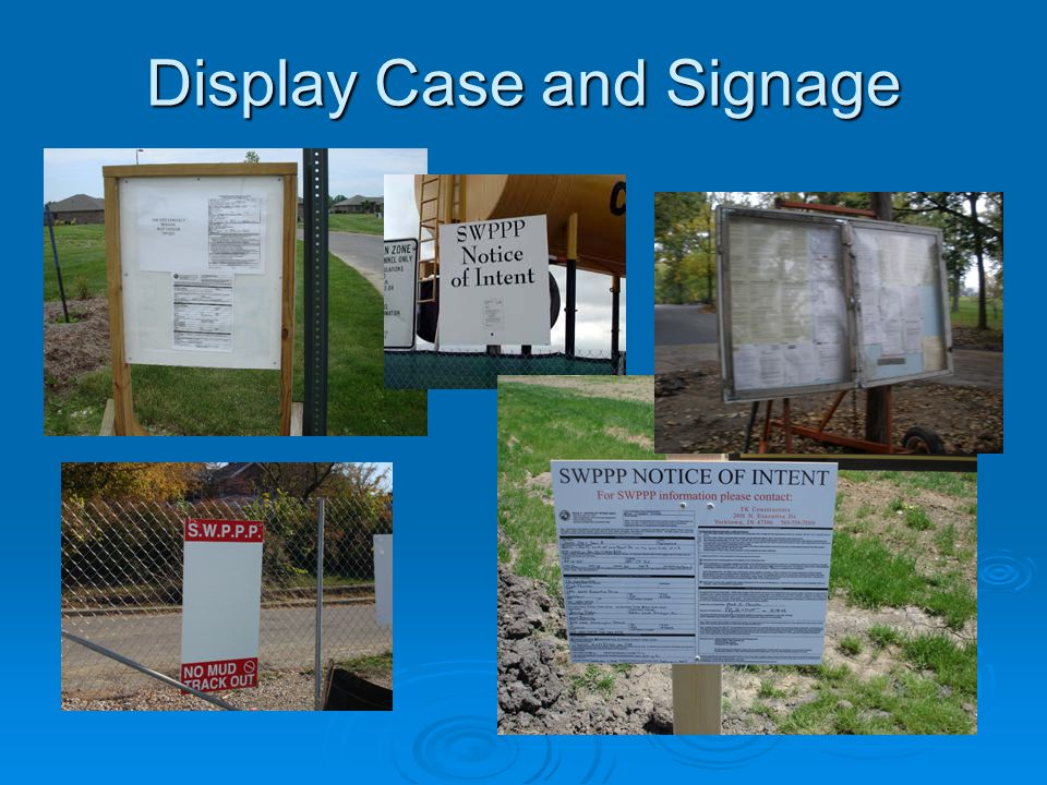 Display Case and Signage