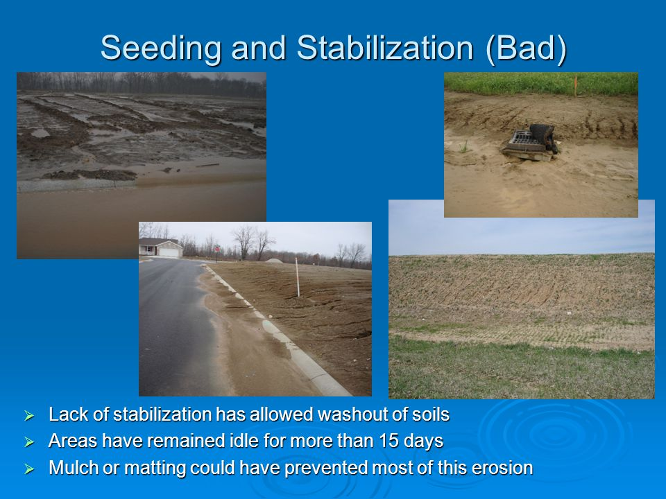 Seeding and Stabilization (Bad)