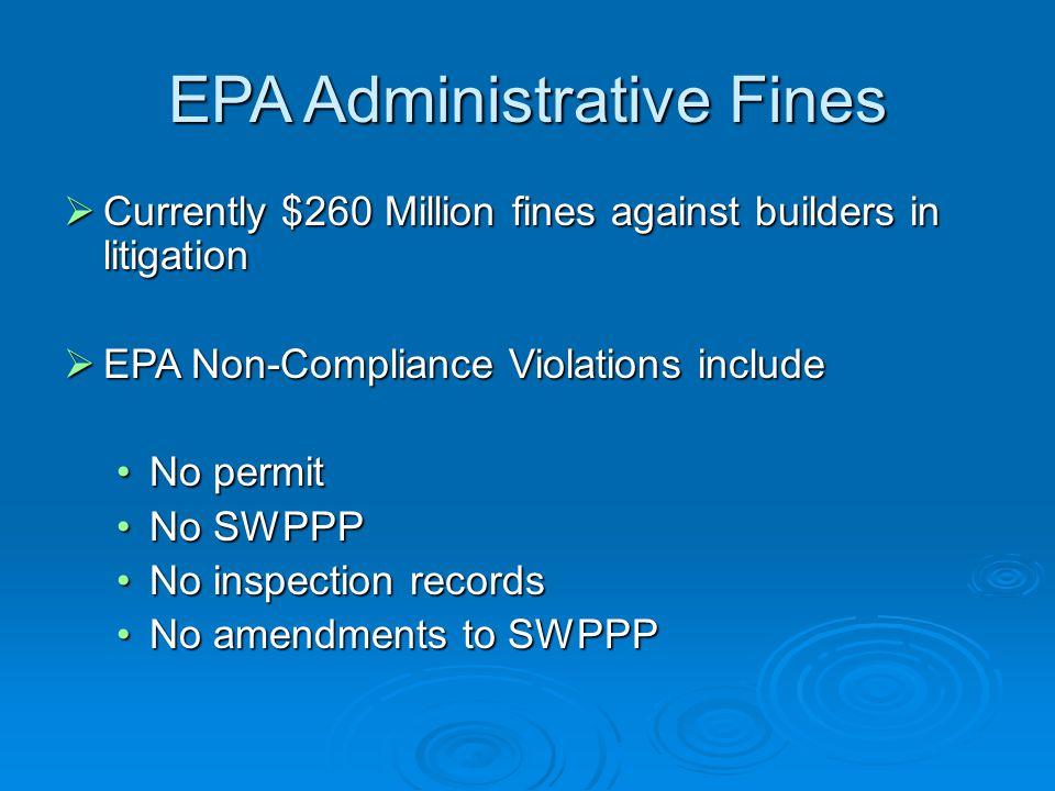 EPA Administrative Fines