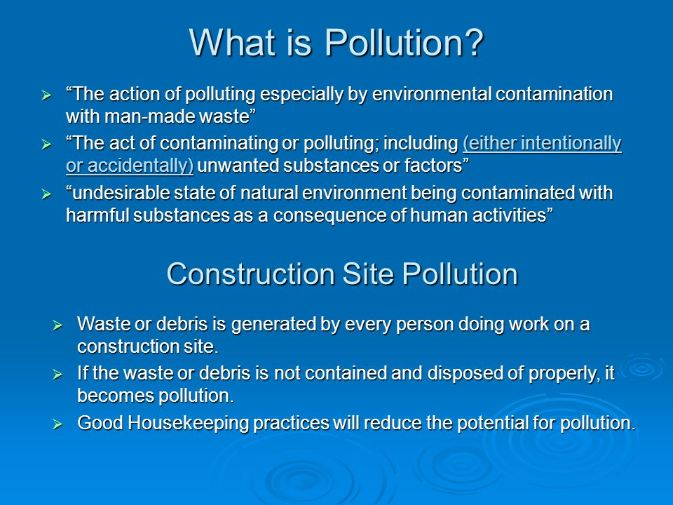 Construction Site Pollution
