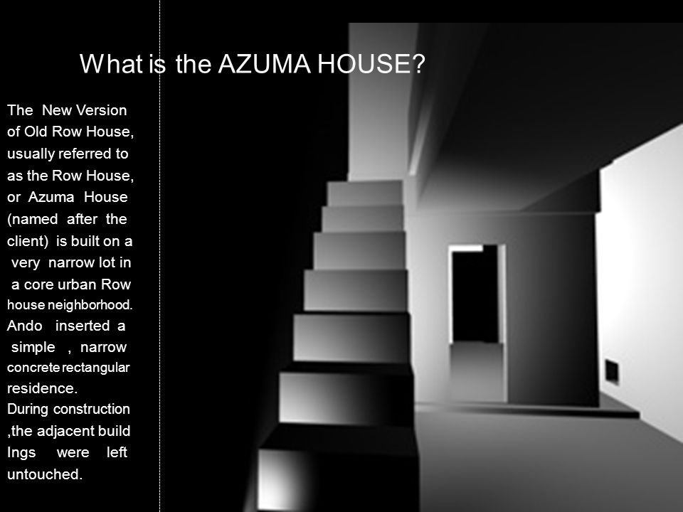 What is the AZUMA HOUSE The New Version of Old Row House,
