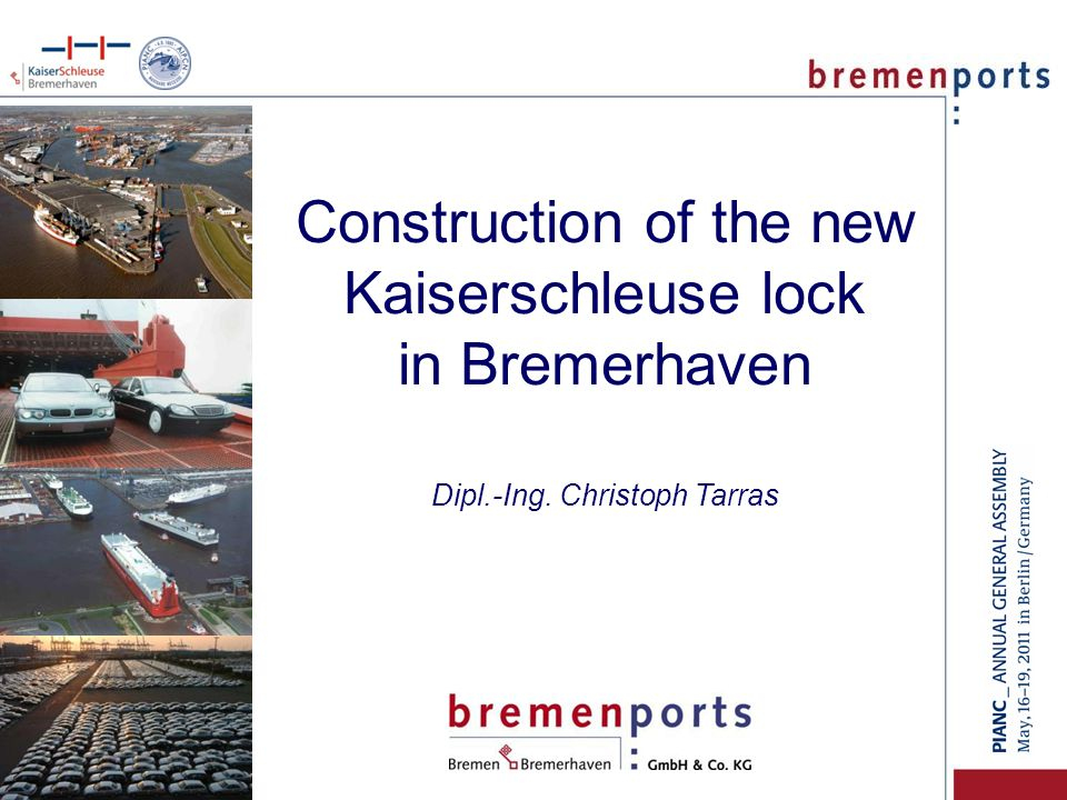 Construction of the new Kaiserschleuse lock in Bremerhaven