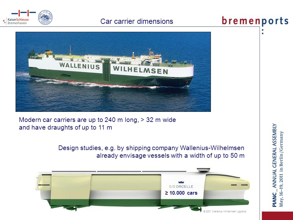 Car carrier dimensions