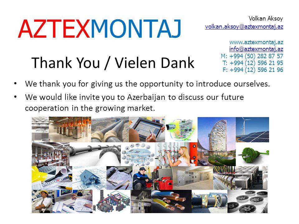 AZTEXMONTAJ Thank You / Vielen Dank