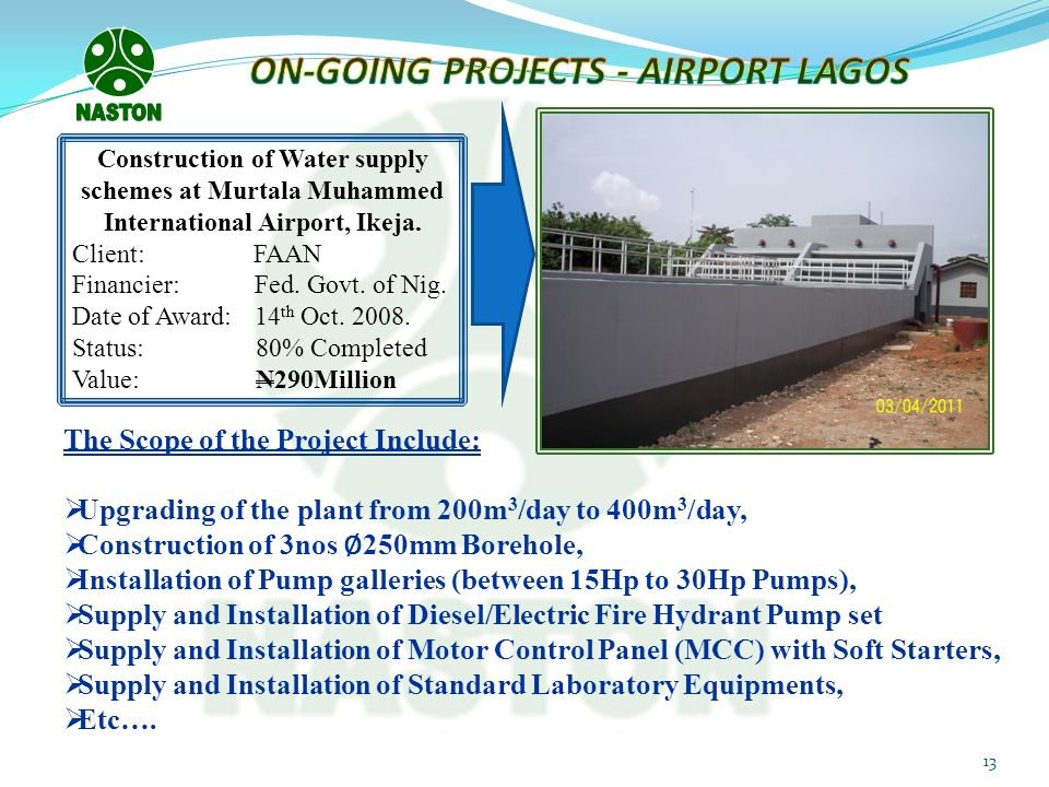 ON-GOING PROJECTS - AIRPORT LAGOS