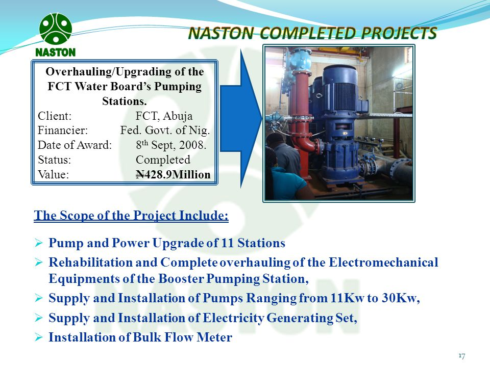 NASTON COMPLETED PROJECTS