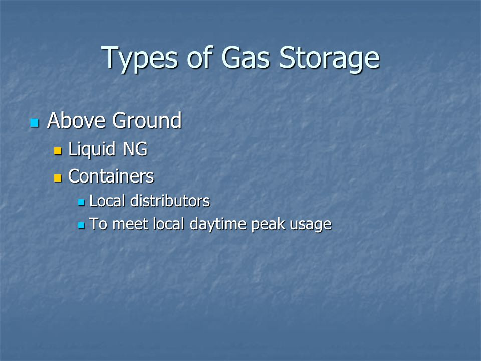 Types of Gas Storage Above Ground Liquid NG Containers