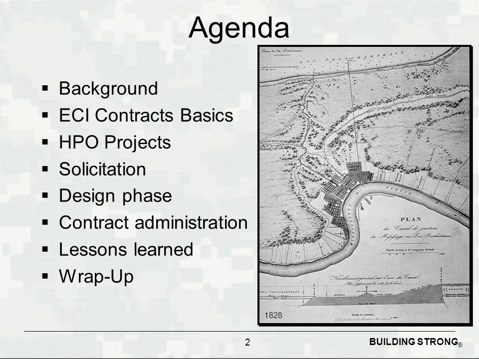 Agenda Background ECI Contracts Basics HPO Projects Solicitation