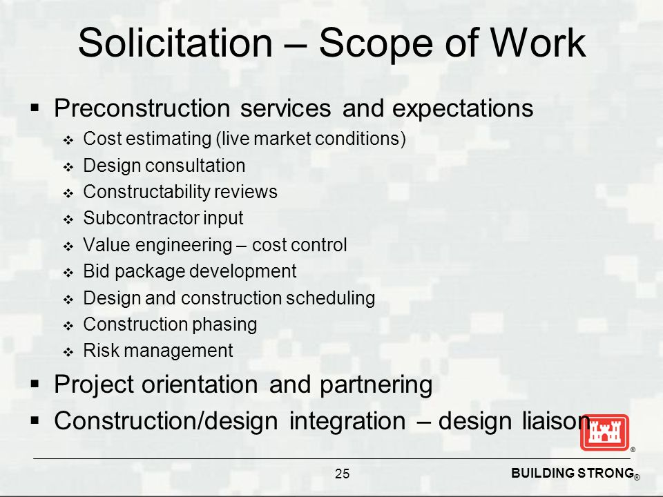 Solicitation – Scope of Work