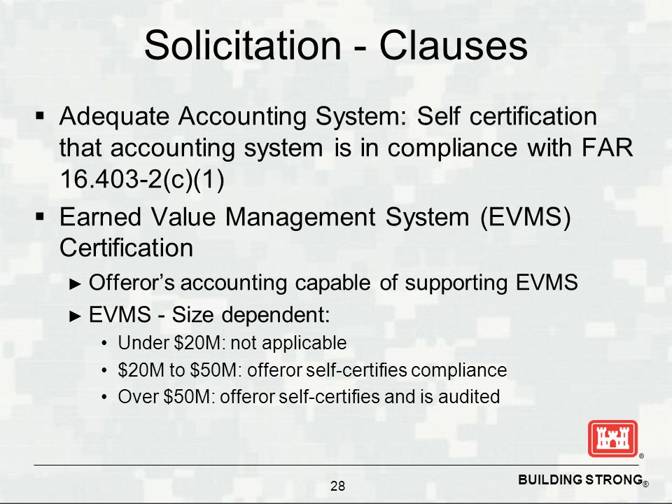 Solicitation - Clauses