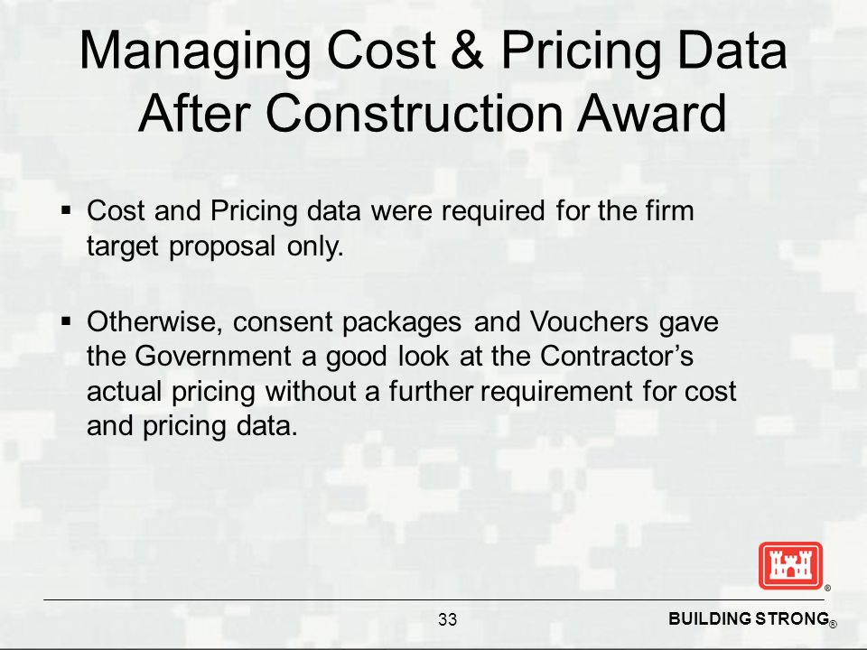 Managing Cost & Pricing Data After Construction Award