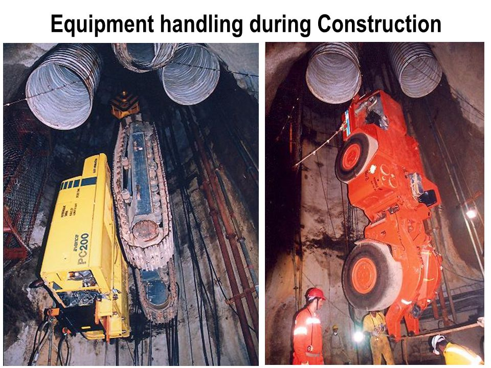 Equipment handling during Construction