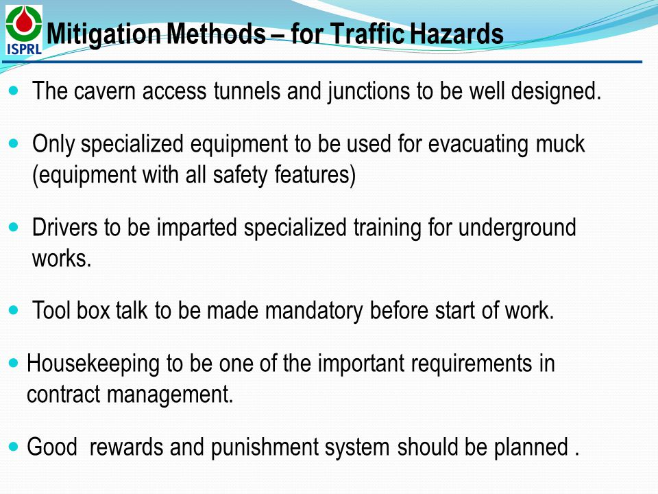 Mitigation Methods – for Traffic Hazards