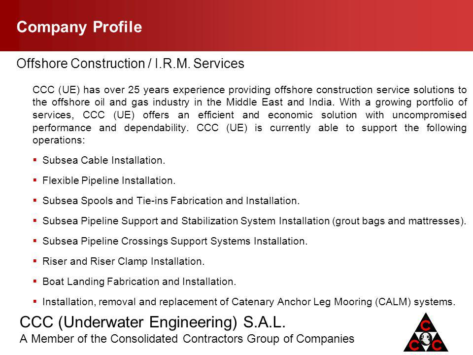 Company Profile Offshore Construction / I.R.M. Services