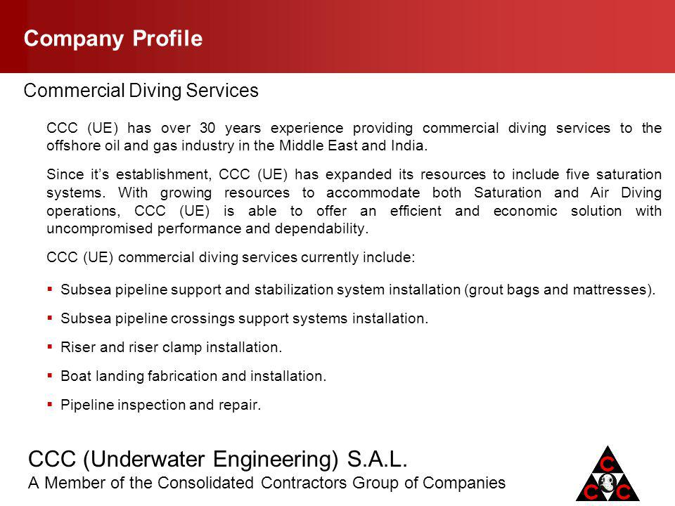 Company Profile Commercial Diving Services