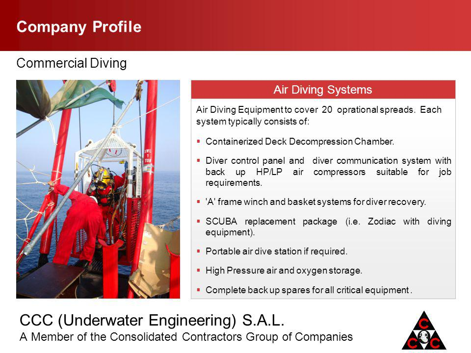 Company Profile Commercial Diving Air Diving Systems .