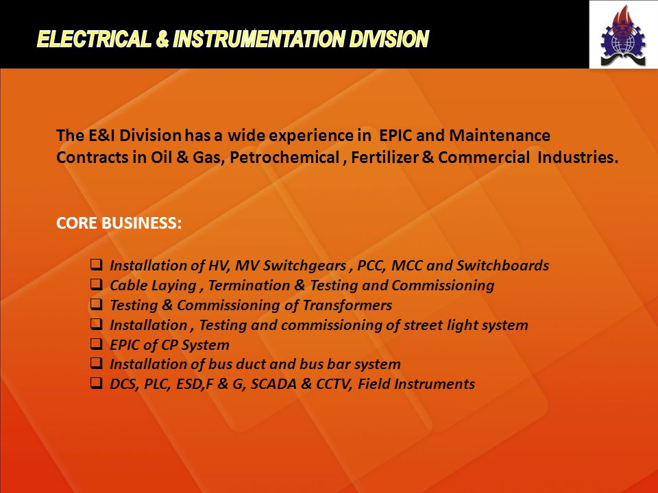 Electrical & instrumentation Division