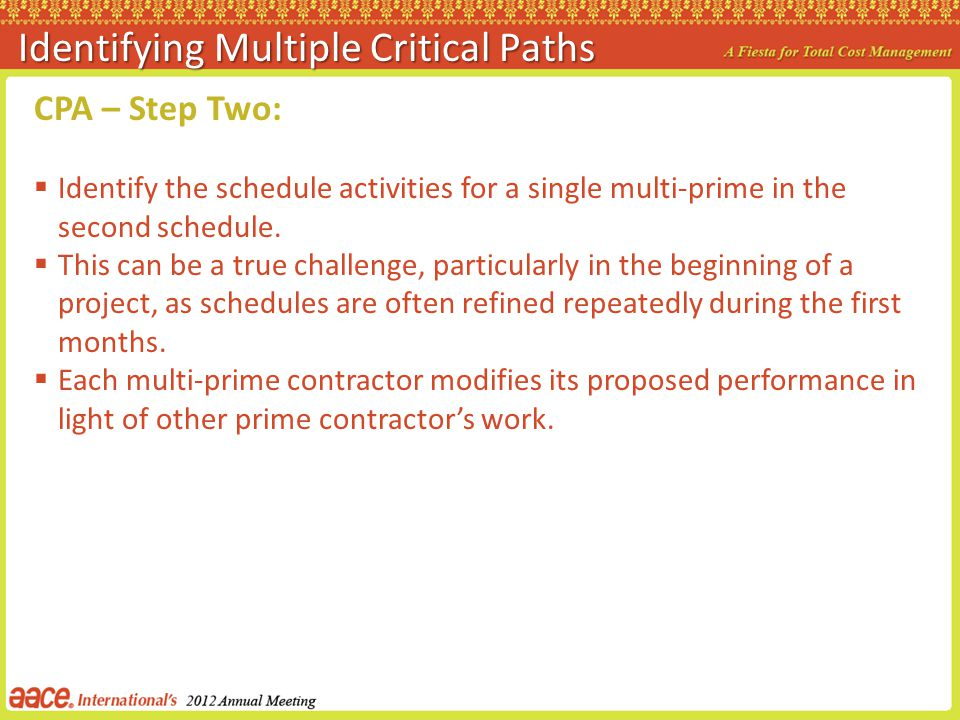 Identifying Multiple Critical Paths