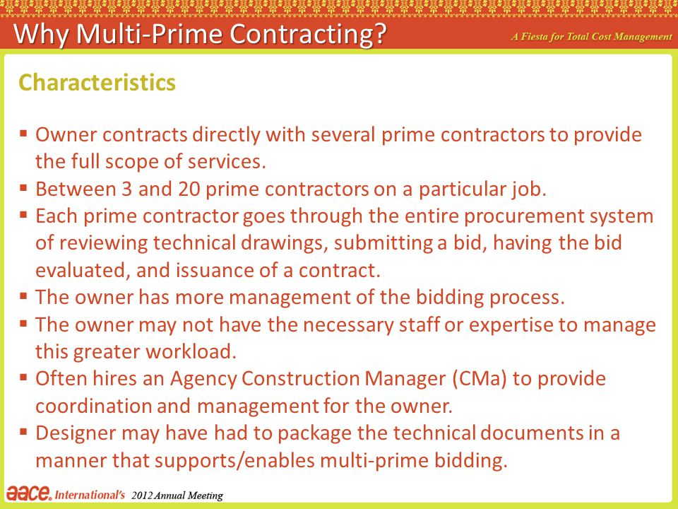 Why Multi-Prime Contracting