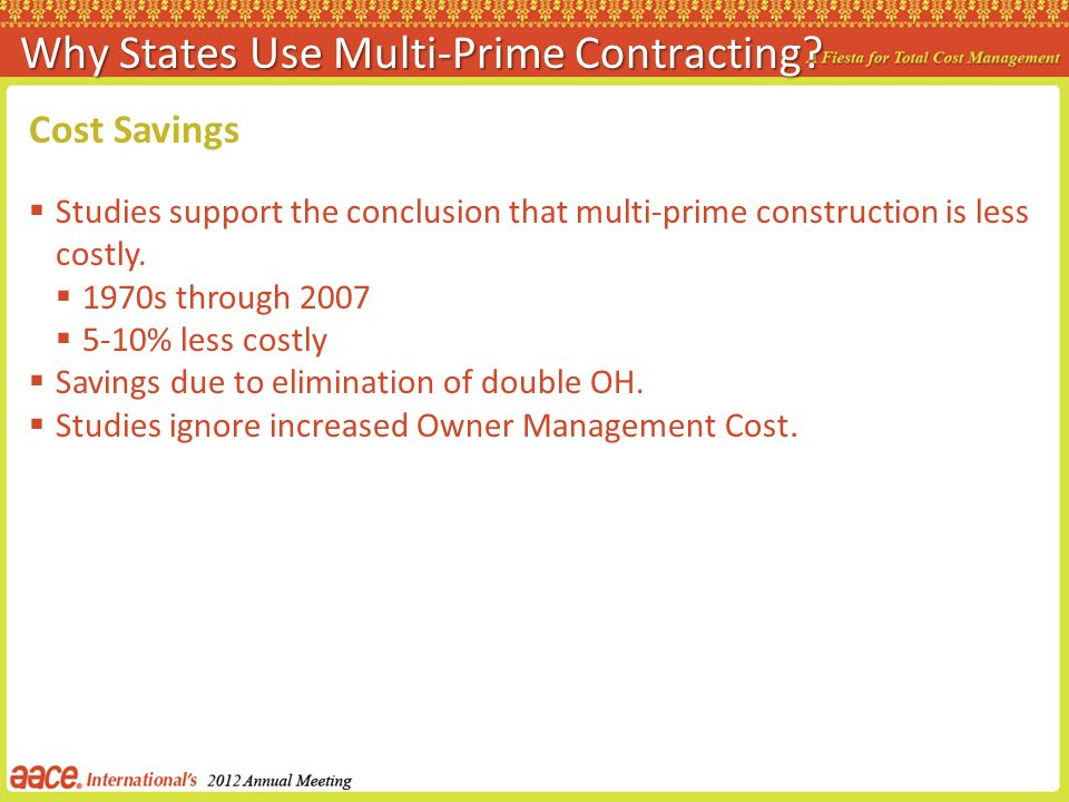 Why States Use Multi-Prime Contracting