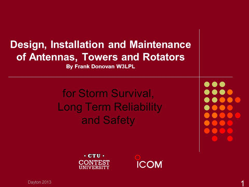 for Storm Survival, Long Term Reliability and Safety