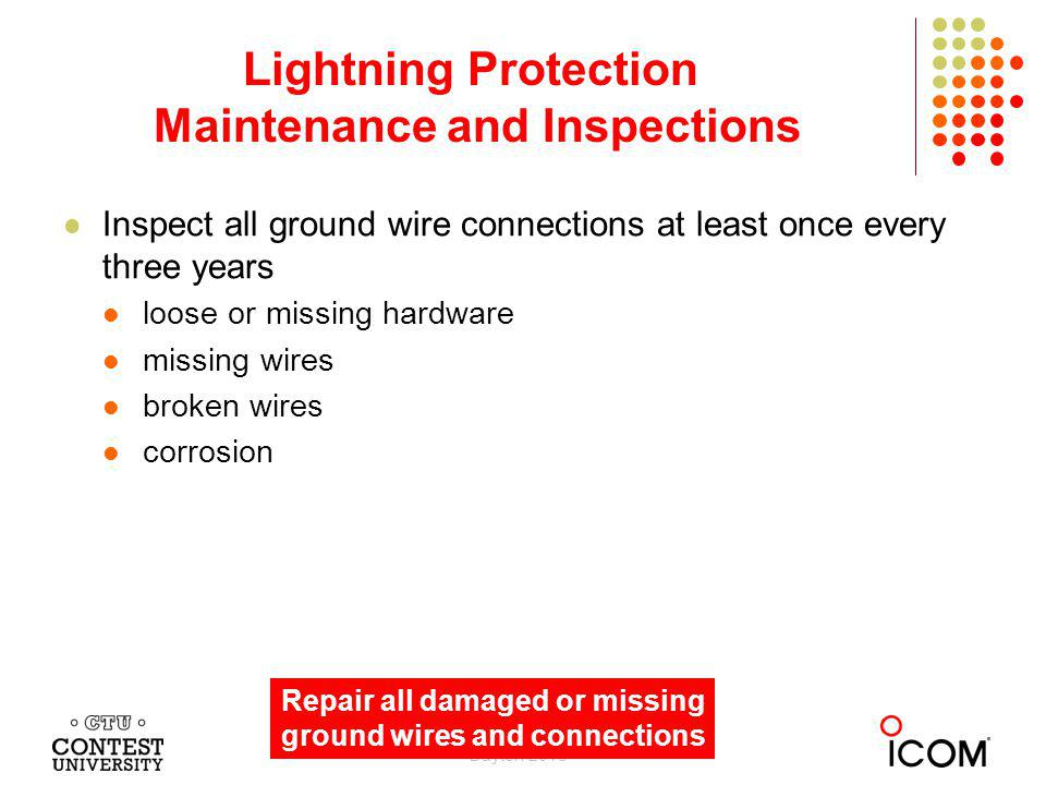 Lightning Protection Maintenance and Inspections